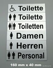 Toilettenschild,WC,Toilette,Damen,Herren,160 mm x 40 mm,00,Gravurschild,Klo