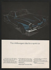 1968 VOLKSWAGEN KARMANN GHIA Sports Car VINTAGE AD