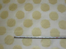 Ardecora Zimmer+ Rohde Ivory & Light Gold Circles 100% Silk Voile Fabric 1.1 mts