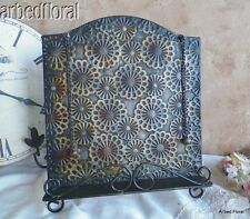 Tuscan Brown Iron Cookbook Stand Display Cook Book Embossed Floral Easel