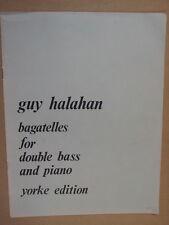 double bass GUY HALAHAN Bagatelles