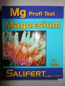 Salifert Magnesium Marine Reef Fish Aquarium Water Test Kit -  50 Tests