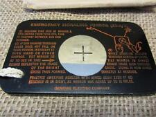 Vintage Military Emergency Signalling Mirror > General Electric Antique Old 7757