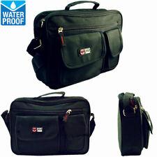 Mens Womens Waterproof Business Briefcase Messenger Shoulder Belt Hip Bag