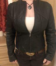 Ladies Lovely GAP Black Leather Jacket, Size S Fits Size 12, Worn Dew Times