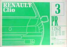 1992 RENAULT CLIO CATALOGUE DE PIECES DETACHEES PR 1262