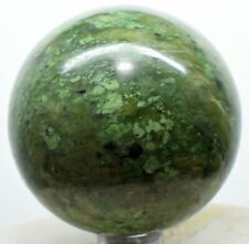 """2.1"""" Green Yellow Jade Sphere Polished Gemstone Crystal Mineral Ball Afghanistan"""