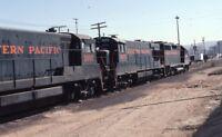 WESTERN PACIFIC Railroad Locomotives Train Original 1976 Photo Slide