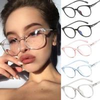 Damenmode klare Gläser Rahmen Vintage Runde Brillen transparent optisch