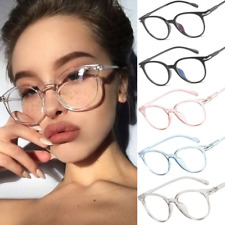 Women Fashion Clear Glasses Frame Vintage Round Eyeglasses Transparent Optical