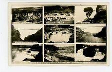 """Snake River Views"" RPPC Multiview—Rare Antique Idaho Photo—Shoshone Twin Falls"