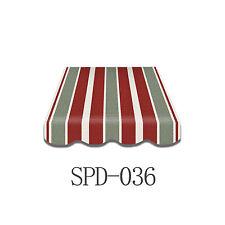 Markisenstoff  Markisenbespannung Ersatzstoff ohne-Volant 4x2,5m  SPD-036 NEU