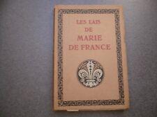 LES LAIS DE MARIE DE FRANCE TUFFRAU EDITION D'ART H. PIAZZA