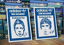Adidas Originales Noel y Liam Gallagher Oasis A3 Art Prints Par Manchester