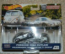 Hot Wheels 2019 Team Transport Porsche 356A Outlaw VW T1 Transporter Pickup (iA)