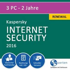 Kaspersky Internet Security 2016, 3 PC - 2 Jahre, Renewal, ESD