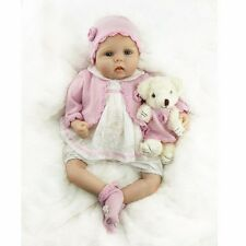 "22"" Reborn Baby Dolls Realistic Newborn Lifelike Vinyl Girl Baby Doll Handmade"