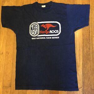 VTG 80s ROOS Kangaroos Marathon Racing Track & Field T Shirt 1982 Screen Stars M