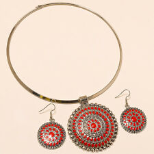 """TURKISH RED CORAL STONE 925 STERLING SILVER PLATED NECKLACE JEWELLERY """""""