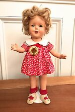 "RARE 1930'S Vintage 13"" Shirley Temple Composition Doll - FABULOUS!"