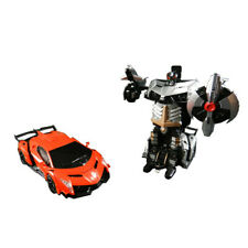 One-Button Deformation and 360°Rotating Remote Control Transformers Robot Car