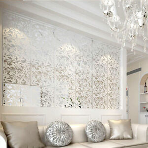 12PCS Folding Screen Room Divider Hanging Screens Wall Panels DIY Home Art Decor