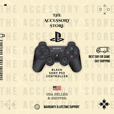 BRAND NEW Black Sony PlayStation 3 PS3 Dual Shock 3 Wireless SixAxis Controller