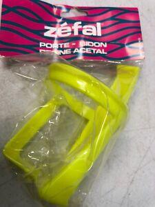 Zefal Bicycle Bike Water Bottle Cage Neon Yellow Plastic