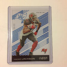 VINCENT JACKSON #12 BUCCANEERS 88/99 made 2015 PANINI CLEAR VISION BLUE Parallel