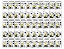 """50 Snoopy Charlie Brown Hug Envelope Seals / Labels / Stickers, 1"""" x 1.5"""""""
