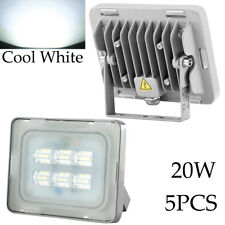 [5-PACK] 20W Viugreum LED Flood Lights Outdoor Yard Spot Fixtures Cool White US