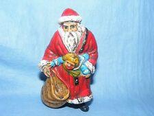Antiguo De Colección plástico de Navidad decoración figura de Santa Claus Papá Noel