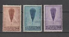 BELGIE BELGIUM BELGIQUE BELGIEN research Balloon 1932 Mi 344-346 Val € 130 TOP