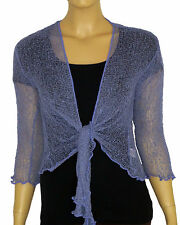 NEW  BALI BOLERO/SHRUG IN NUMEROUS COLOURS  - ONE SIZE FITS ALL (8-16)