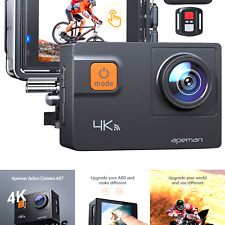 APEMAN 【New Model】 A87 Action Camera Touch Screen 4K 60FPS 20MP Wi-Fi Sports ...