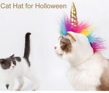 Pet Halloween Unicorn Costume Lovely Dog Cat Color Party Headgear Beast Clothing