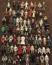 Star Wars Vintage Lot First 79 Figures Collection w/ 2 Cases & access.