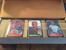 1987 Donruss Baseball Complete Set 1-660 NRMT w/ Bonds Rookie