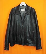 Men's New York Classics Leather Bomber Jacket - Lined and Insulated - Black - XL