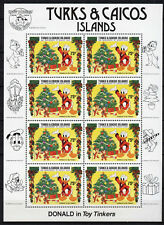 Turks & Caicos 648 MNH Sheet, Disney, Donald Duck, Christmas