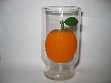 "Rare Vintage Orange Juice Drinking Glass - 4 1/8 "" Tall"