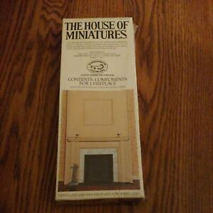 THE HOUSE OF MINIATURES ''TIDEWATER VIRGINIA FIREPLACE''  NO. 40020 NIB