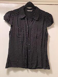 short sleeve blouse 14 M&S