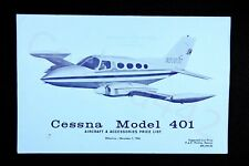 CESSNA Factory OEM Vintage 1966 401 Price List Accessories Fold Out USA Gift