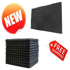 Wedge Foam Acoustic Panels Studio Office Sound Proof Spot Treating Walls 12 Pack