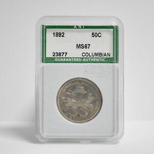 1892 Columbian Exposition Silver Half Dollar (slx3905)