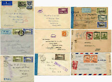 WW2 AFRICA CENSORED AIRMAIL REGISTERED SIERRA LEONE GOLD COAST CONGO Priced Each