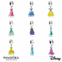 Authentic PANDORA DISNEY Princess Royal Ball Dress Charm Bead Silver VALENTINES