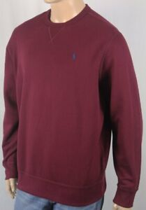 Polo Ralph Lauren Wine Red Sweatshirt Navy Blue Pony NWT
