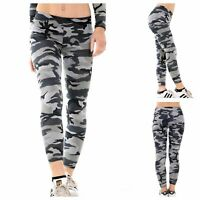 NEW WOMENS LADIES CASUAL STRETCH CAMOUFLAGE PRINT GIRLS LEGGINGS PLUS SIZE 8-22